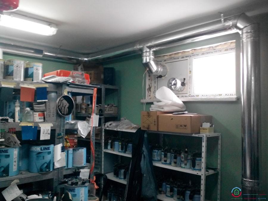 Припливна система вентиляції ВЕНТС і місцеве відсмоктування в майстерні по підбору автофарб