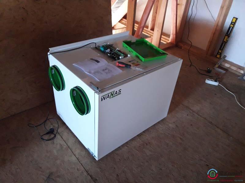 Рекуператор воздуха WANAS 550H/2 в частном доме.