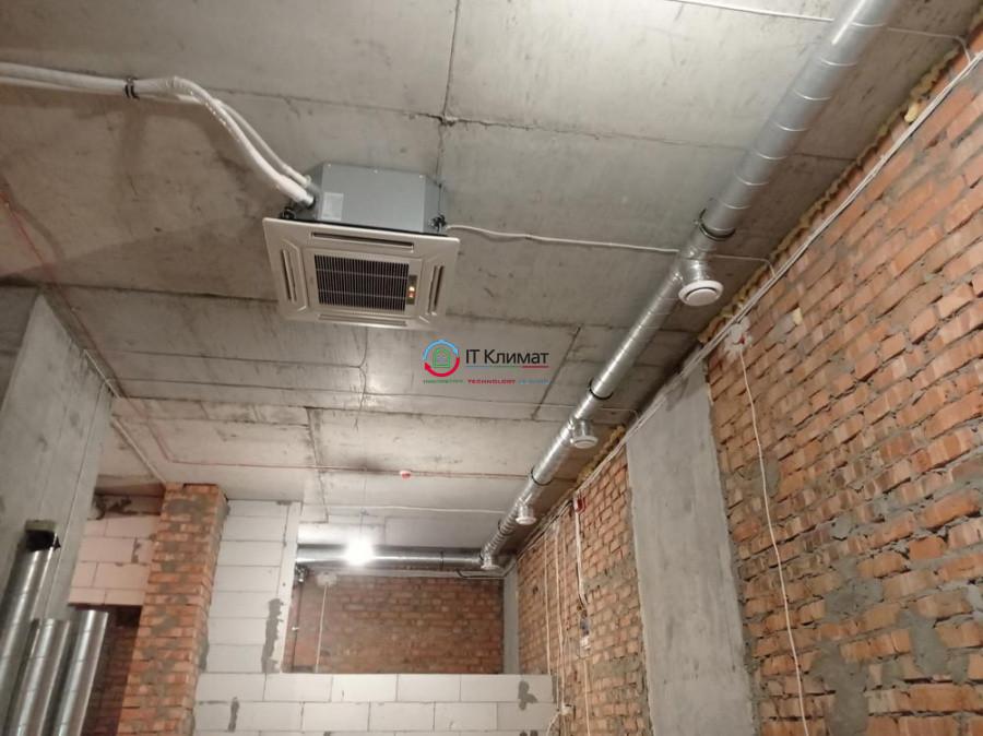 Салон краси - 60 м.кв. Припливно-витяжна система вентиляції Idea і касетне кондиціонування