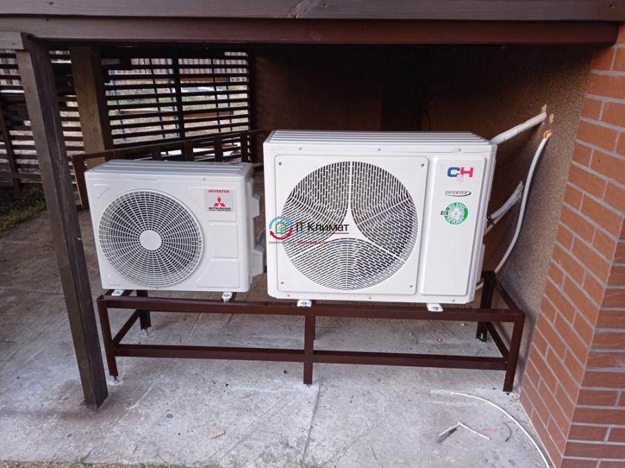 Установка 3-х кондиціонерів в приватному будинку: Cooper&Hunter і Mitsubishi Heavy